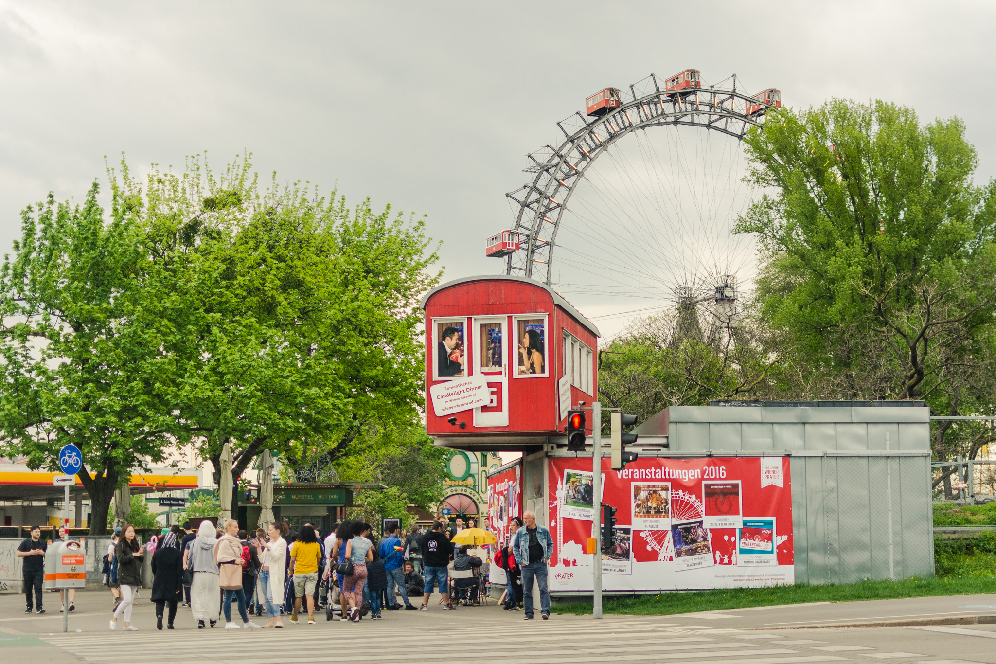 Rueda de la Fortuna de Prater Park. Foto: Sara Apaza.