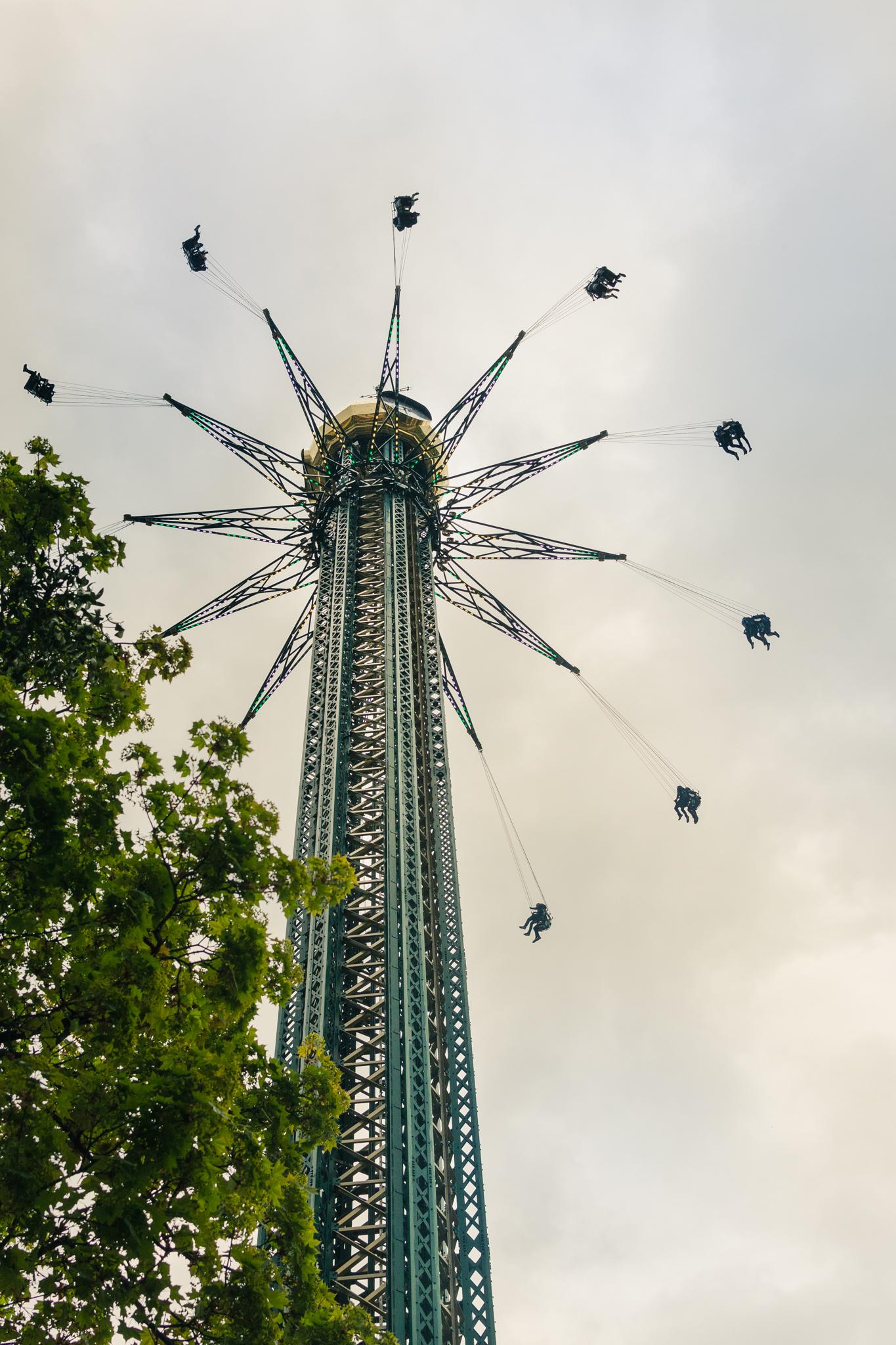 Vista de los juegos del Prater Park. Foto: Sara Apaza.